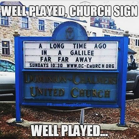 well-played-church-sign