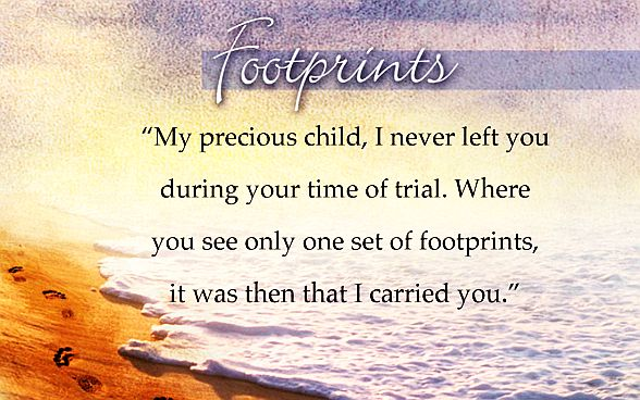 Footprints Poem Thinking Out Loud
