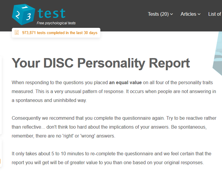 personality tests | Thinking Out Loud